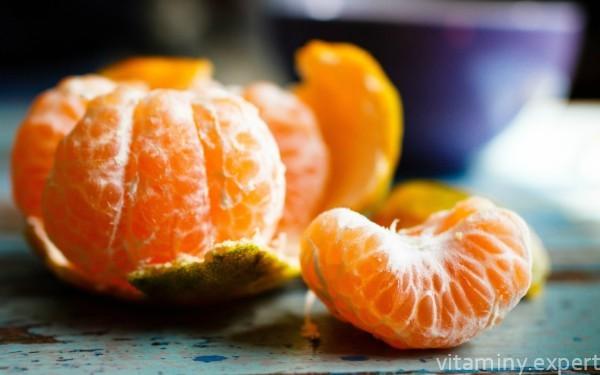 Какие витамины содержатся в мандаринах?