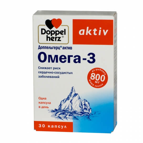 Доппельгерц актив Омега-3: инструкция по применению, состав, цена