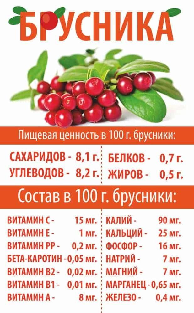 Какие витамины содержатся в бруснике?