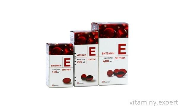 Витамин Е Зентива: инструкция по применению, состав