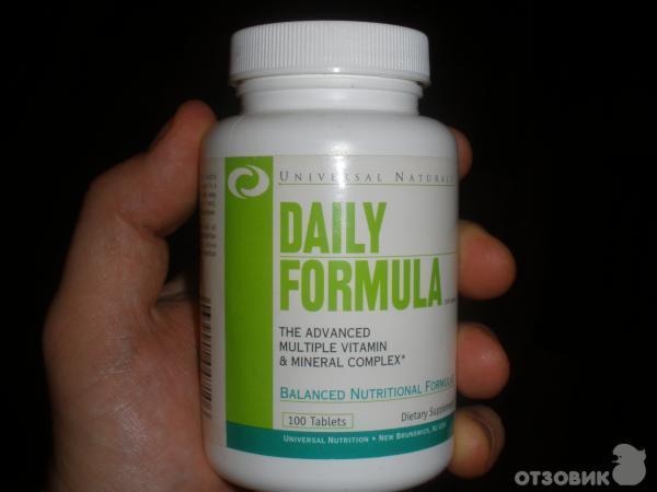 Витамины daily formula (universal nutrition): как принимать, состав витаминов