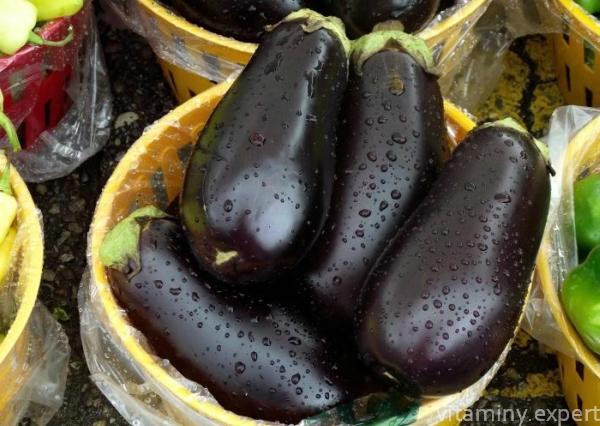 Какие витамины в баклажанах