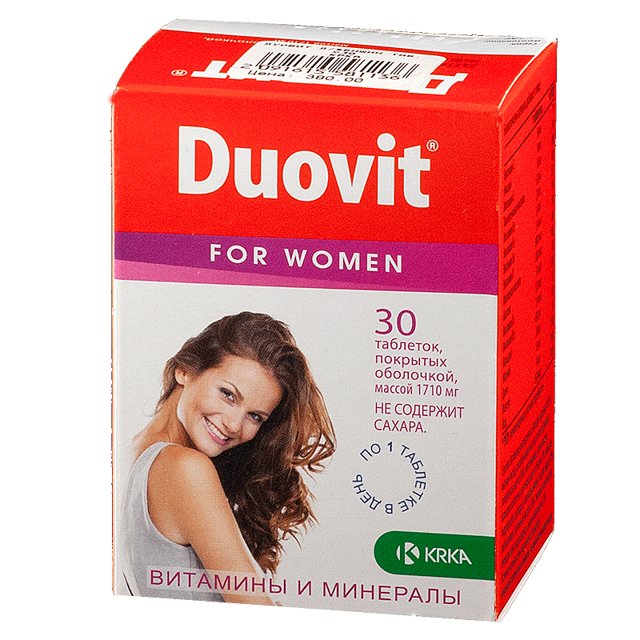 Дуовит для женщин: состав, инструкция по применению, цена, отзывы