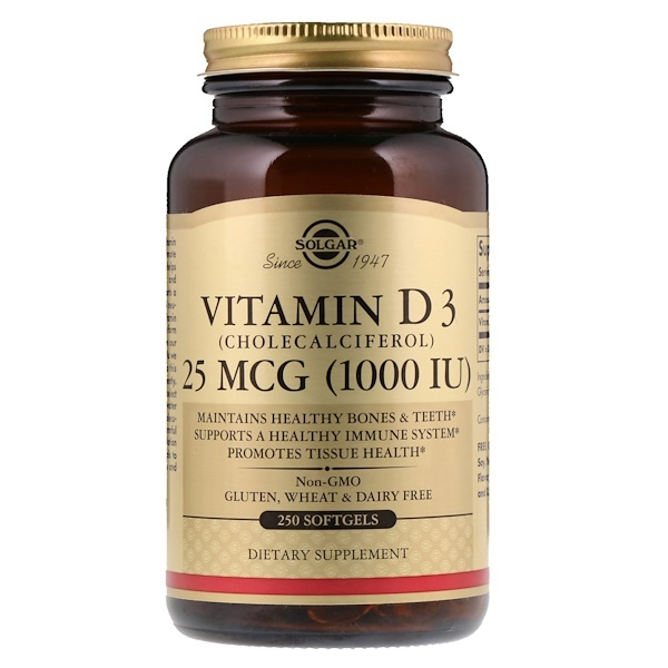 Витамин Д3 Солгар: инструкция по применению