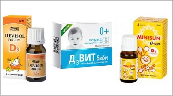 Жидкий витамин Д: масляный и водный растворы