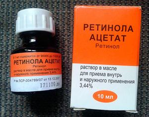 Ретинола Ацетат: инструкция по применению
