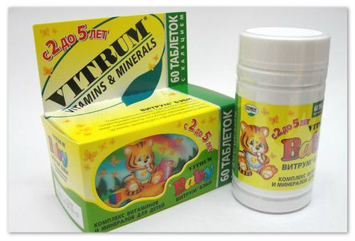 Витамины Витрум Бэби для детей от 3 до 5 лет: инструкция по применению, состав, цена, отзывы