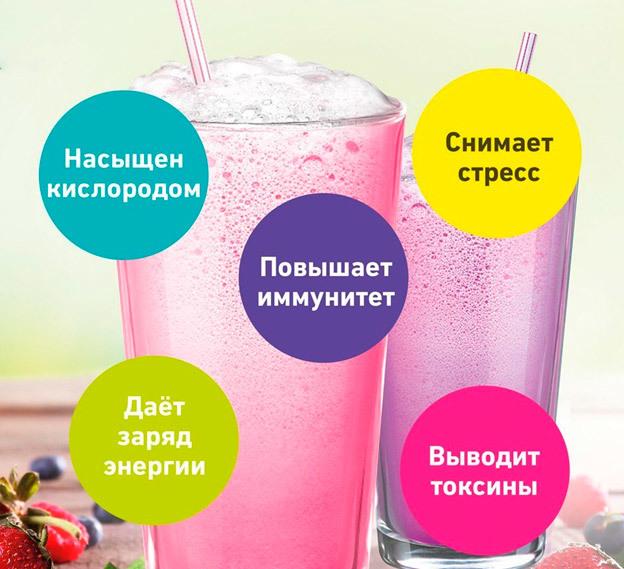 Кислородный коктейль: польза и вред для организма