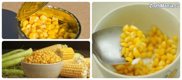 Консервированная кукуруза: польза и вред